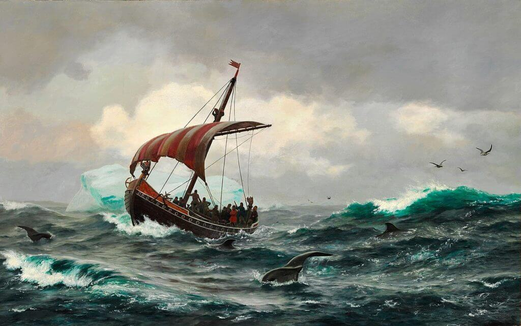 1150px I. E. C. Rasmussen Sommernat under den Grønlandske Kyst circa Aar 1000 Manga